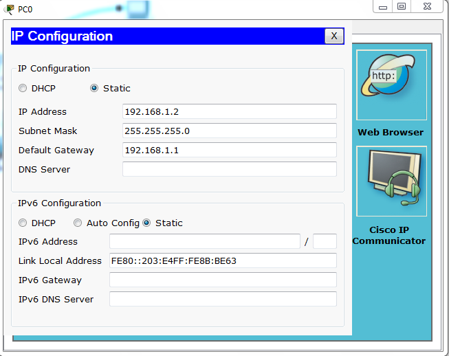 IP Configuration in CISCO Router