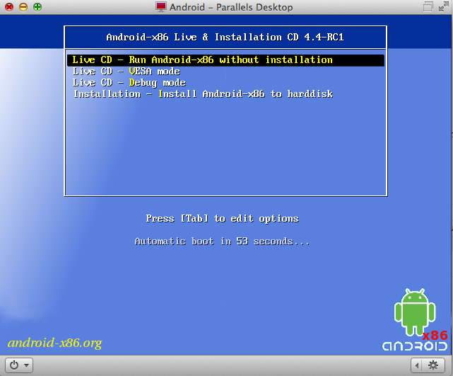 Install Android KitKat 4.4 on PC, UNIX, Linux